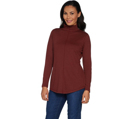 Isaac Mizrahi Live! SOHO Long Sleeve Mock Neck Tunic