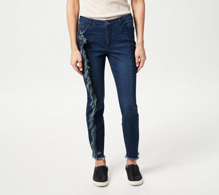 Women with Control My Wonder Denim Jeans with Fray Detail