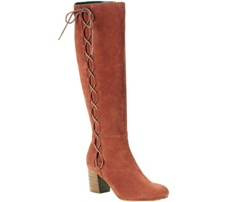 Sole Society Suede Lace Up Boots Arabella