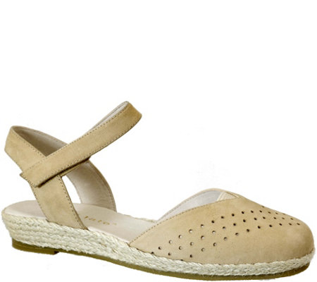David Tate Leather Espadrille Sandals - Canyon