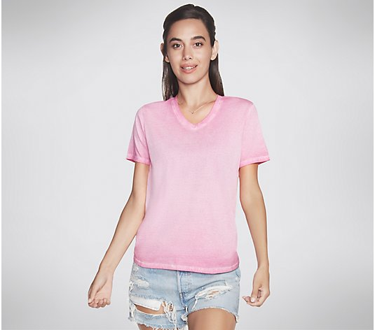 Skechers Hatha V-Neck Short-Sleeve T-Shirt