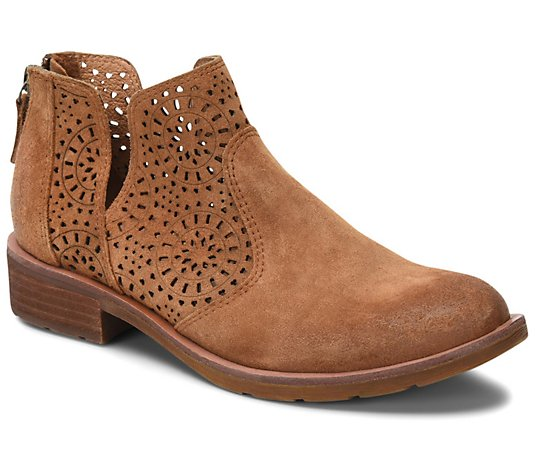 Sofft Cut-Out Suede Booties - Barrosa