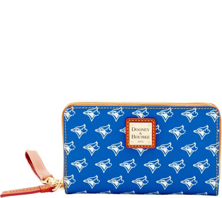 Dooney & Bourke MLB Blue Jays Zip Around Phone Wristlet