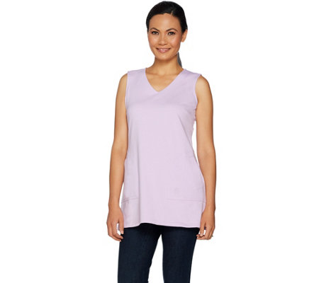 Linea by Louis Dell'Olio Knit V-Neck Tunic Tank