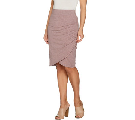 """As Is"" LOGO Lounge by Lori Goldstein French Terry Tulip Skirt"