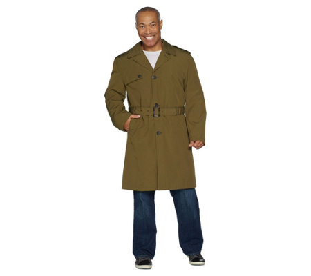 London Fog Men's Water Resistant Trench Coat