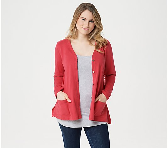 LOGO Principles by Lori Goldstein The Boxy Cardigan