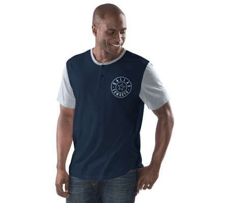 NFL Dallas Traditional Men's Short Sleeve Henley