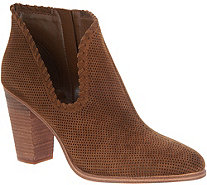 Vince Camuto Perforated Suede Booties - Fernlee - A343291