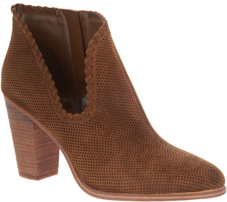 Vince Camuto Perforated Suede Booties - Fernlee