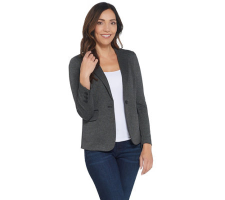 Vince Camuto Melange Herringbone One-Button Blazer