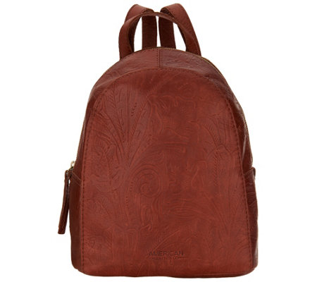 """As Is"" American Leather Co. Glove Leather Backpack"