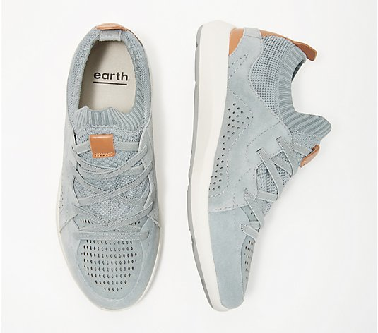 Earth Knit Lace-Up Sneakers - Desire Flow