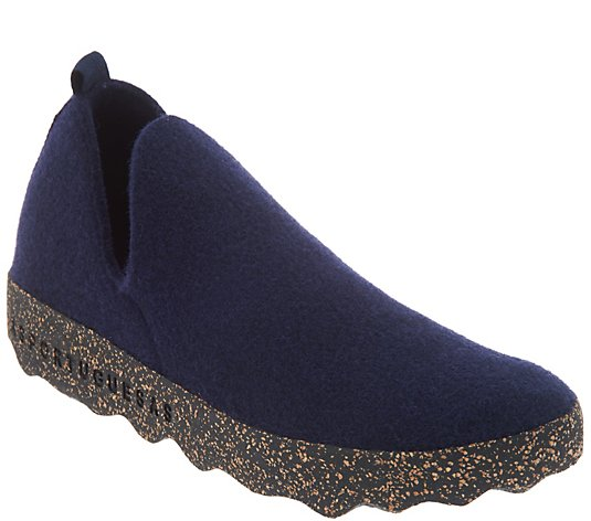 """As Is"" Asportuguesas by Fly London Boiled Wool Slip-on Shoes"