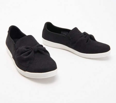 half off best service discount sale Skechers Jersey Bow Slip On Shoes - Madison Ave My Town — QVC.com