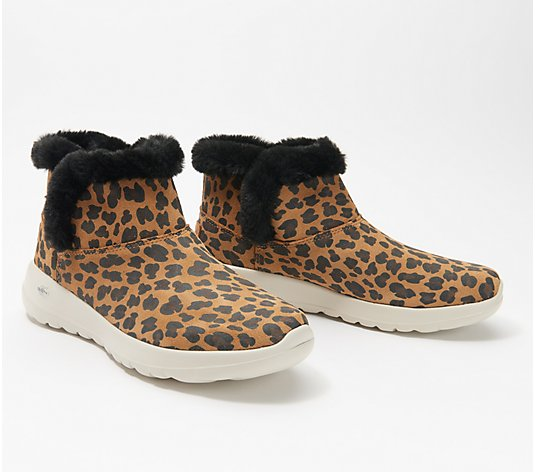 Skechers Animal Print On-the-Go Joy Bundle Up Ankle Boots