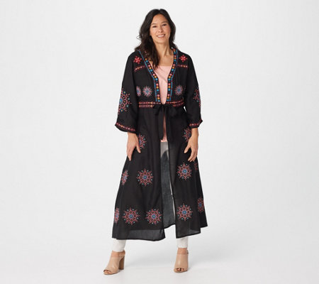 Tolani Collection Regular Embroidered Duster
