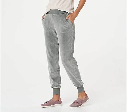 Lisa Rinna Collection Washed Velour Joggers