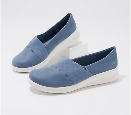 """As Is"" CLOUDSTEPPERS by Clarks Slip-On Shoes - Moon"