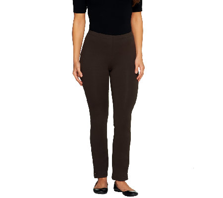 Susan Graver Weekend Stretch Cotton Ankle Leggings - Regular