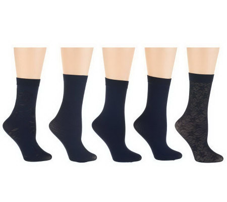 Passione Set of 5 Crew Trouser Socks