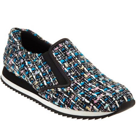 LOGO by Lori Goldstein Novelty Tweed Slip-on Sneakers