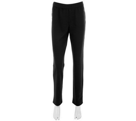 """As Is"" Kelly by Clinton Kelly Tapered Leg Pants with Faux Fly"