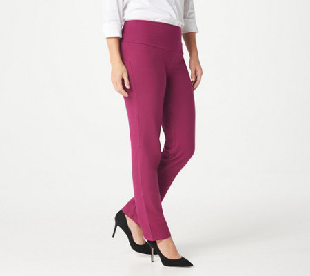 """As Is"" Women with Control Petite Tummy Control Slim Leg Pants"