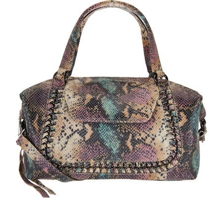Aimee Kestenberg Pebble Leather Convertible Satchel- Balboa