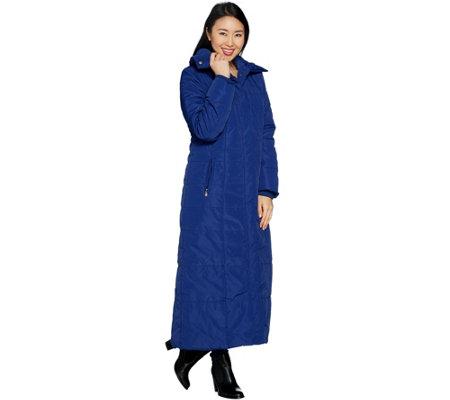 Dennis Basso Full Length Puffer Coat Petite