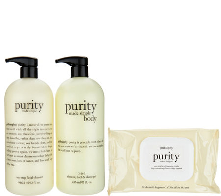 philosophy purity made simple face and body trio Auto-Delivery