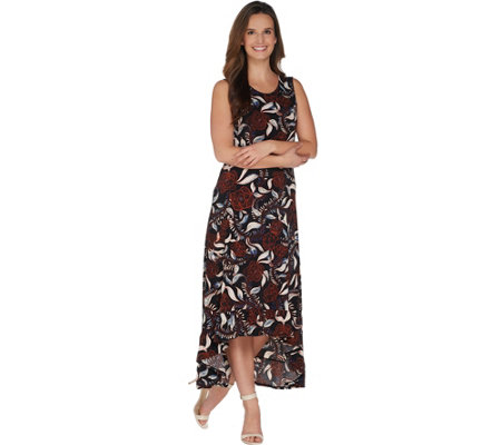 Kelly by Clinton Kelly Petite Knit Maxi Dress w/ Ruffle Hem