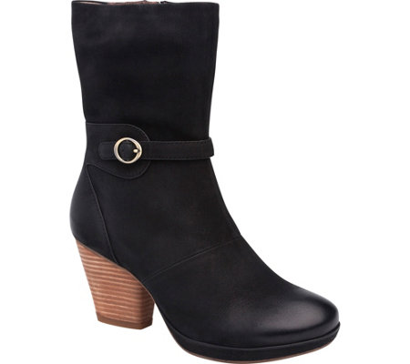 Dansko Mid Calf Leather Boots - Marietta