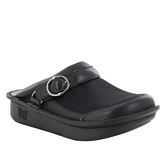Alegria Leather Open Back Clogs - Seville