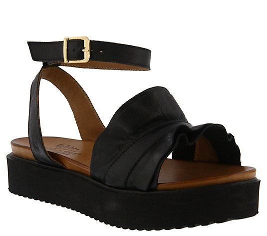 Spring Step Leather Ankle Strap Sandals - Menia