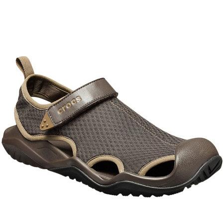 f43f44104271 Crocs Men s Swiftwater Mesh Deck Sandals — QVC.com