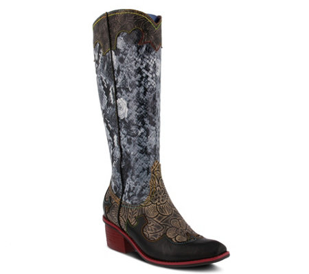 L'Artiste by Spring Step Leather Western-StyleBoots - Rodeo