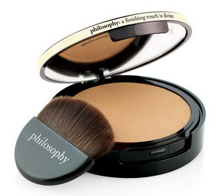 philosophy divine color satin-finish illuminating powder with bru