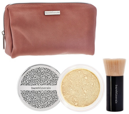 bareMinerals Deluxe Original Foundation & Brush Duo Plus Bag