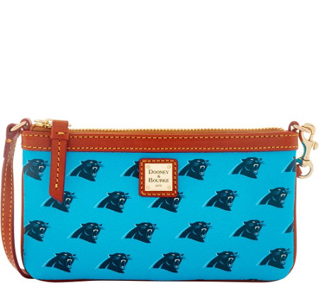 Dooney & Bourke NFL Panthers Large Slim Wristlet