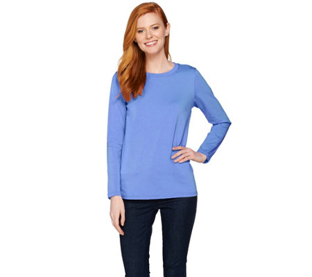 Bob Mackie Long Sleeve Crew Neck Knit Top