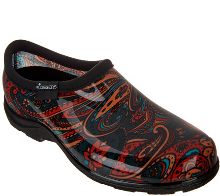 Sloggers Waterproof Paisley Garden Shoes with Comfort Insoles