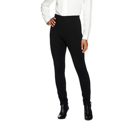 """As Is"" Kelly by Clinton Kelly Reg. Pull - On Straight Leg Ponte Pants"
