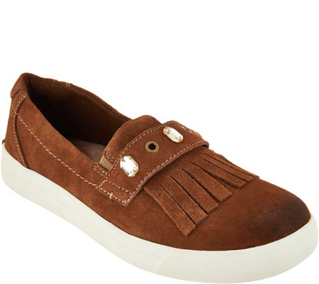 Earth Origins Suede Slip-on Shoes - Mabel