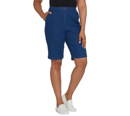 Linea By Louis Dell Olio Petite Denim Bermuda Short