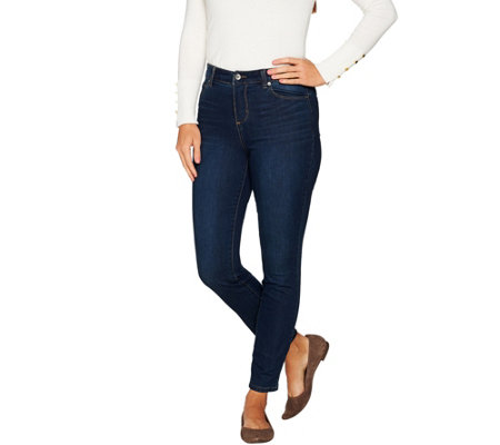 """As Is"" Kelly by Clinton Kelly Petite 5-Pocket Ankle Jeans"