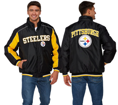 """As Is"" NFL Polyfill Jacket with Detachable Hood"