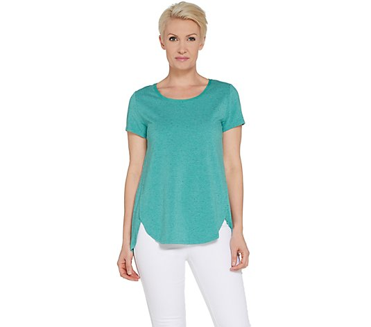 """As Is"" H by Halston Donegal Knit Scoop-Neck Top"