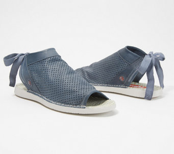 99fbcd47e22422 Softinos by FLY London Leather Tie-Back Sandals - Tre - A351193