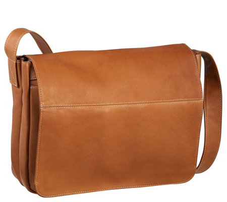 Le Donne Leather Full Flap Laptop Messenger Bag